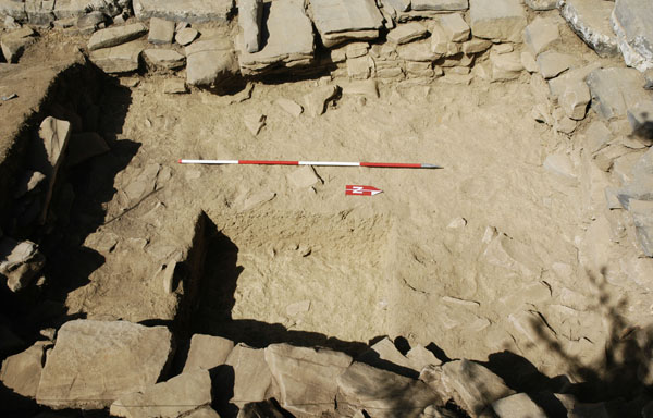 Test trench at the east part of room 17