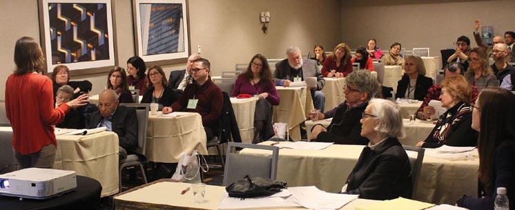 Society members at the members' forum