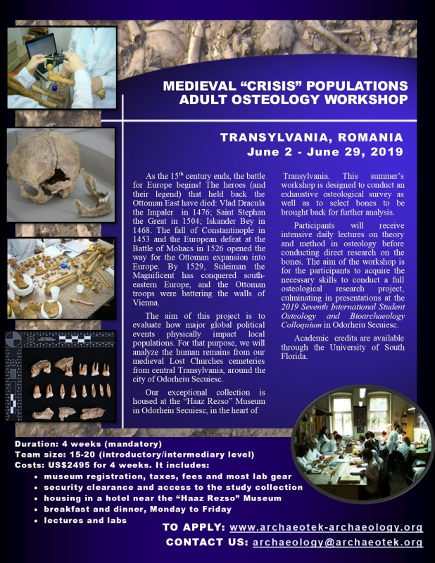 Archaeological Fieldwork Opportunities Bulletin - Adult Osteology