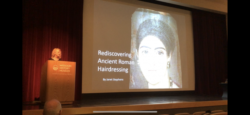 First presentation on Roman hairdressing.  Photo Courtesy of Michael Fuller.