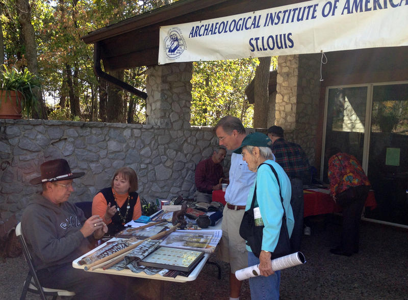 AIA-St. Louis Society celebrates National Archaeology Day at Mastondon State Historic Site.