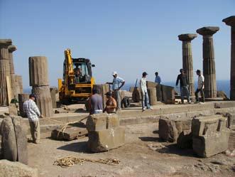Work on the Athena Temple began in August 2008. (Courtesy Nurettin Arslan)