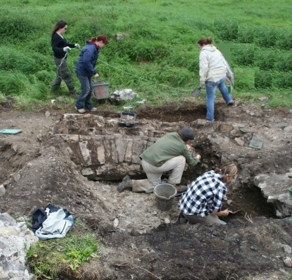 Excavation at the Blackfriary at Trim.