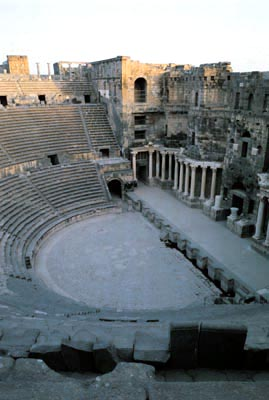 Bosra amphitheare. Image courtesy of Ministry of Tourism, Syria.