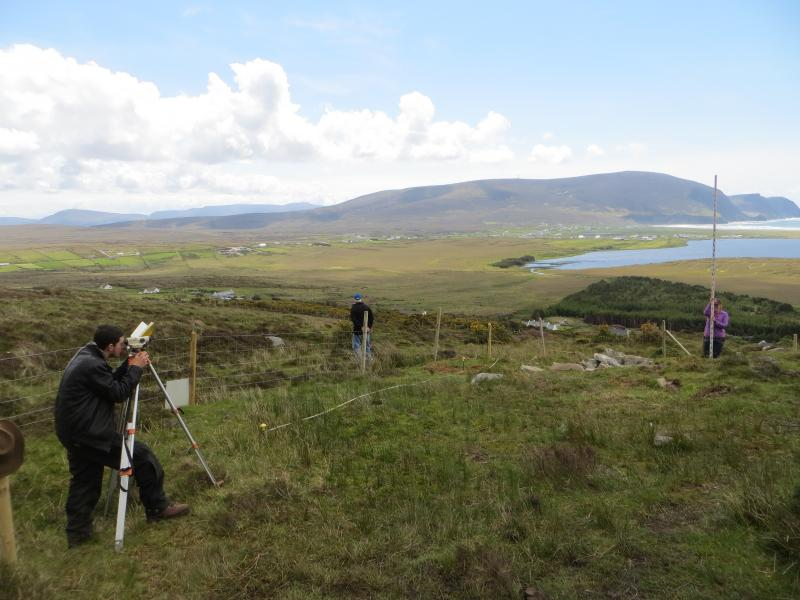 Cameron and Carolynn undertaking the topographic survey of the eastern part of the site