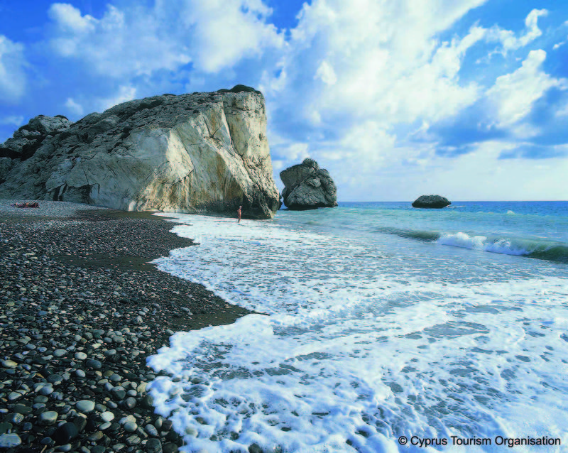 Petra tou Romiou, the birthplace of Aphrodite in Paphos, Cyprus