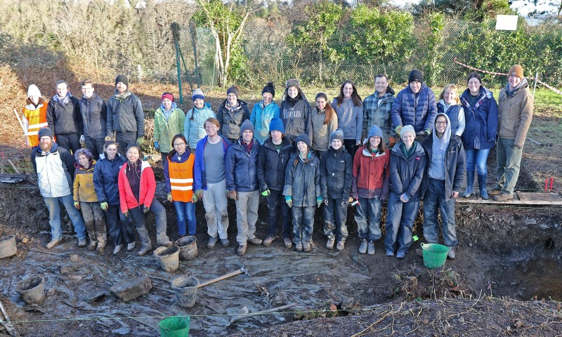 The inaugural crew of the Digging the Lost Town of Carrig project