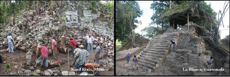 Research at Kaxil Kiuic, Mexico and La Blanca, Guatemala