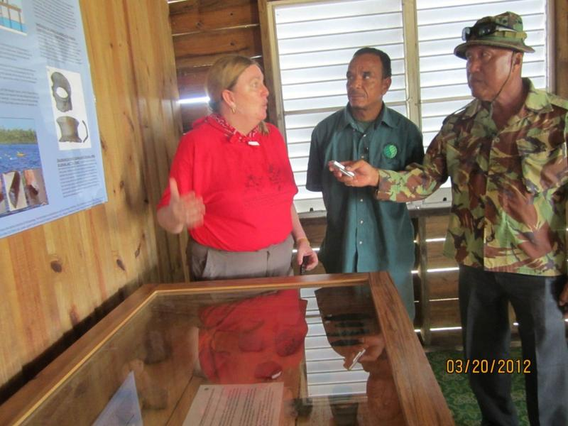 Opening of the Exhibit at Paynes Creek National Park Ranger Station, with TIDE Terrestrial Manager and Paul Mahung, reporting for LoveFm