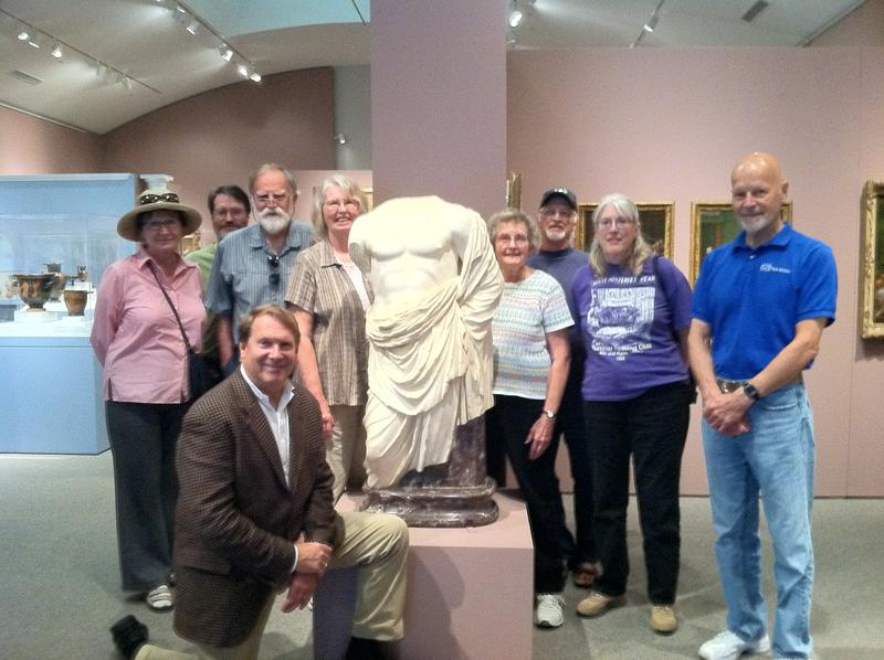 Members of the AIA-Stanford Society at the Stanford Museum on National Archaeology Day.