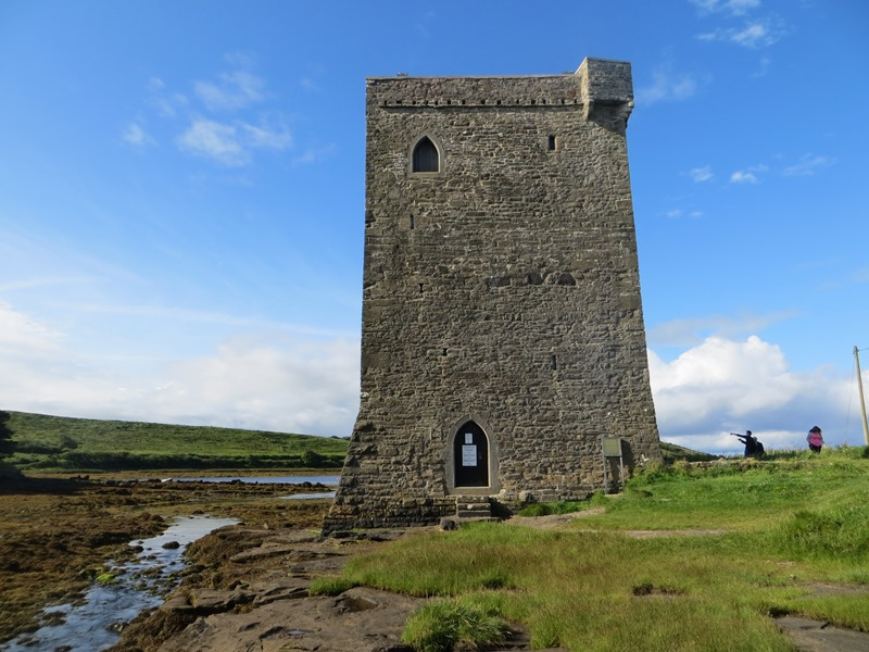 Rock Fleet Castle, one of the residences of the Grace O'Malley, the pirate queen of Clew Bay