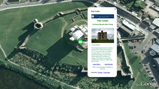 Take a video tour of Google Earth's Archaeological Heritage Map of Ireland.