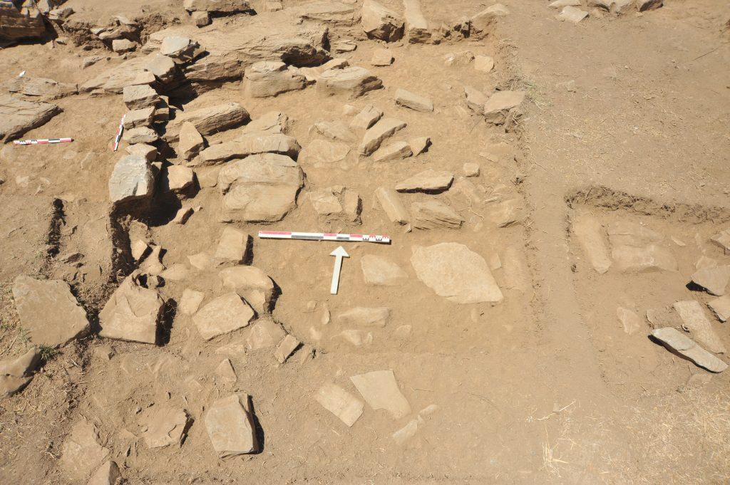 Fallen stones south of Area 44