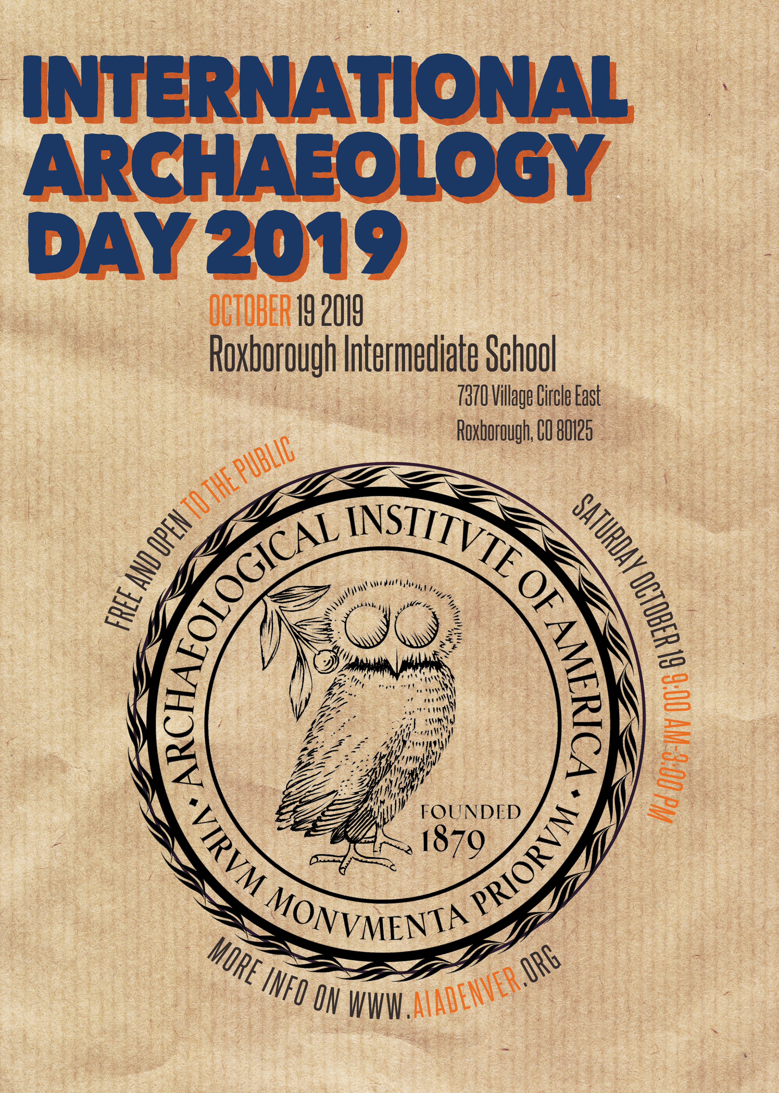 AIA Event Listings - 2019 International Archaeology Day - The ...