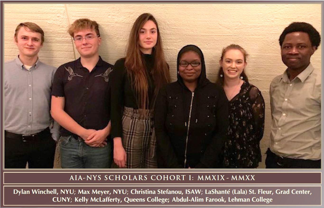 AIA-New York Society Scholars Cohort I (2019). Photo Courtesy John Yarmick.